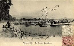 CORSE - AJACCIO - LA BAIE DES TORPILLEURS - Défense Mobile - L. Cardinali 1906 - Ajaccio