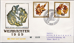 Germany Used FDC From 1989 - Christmas