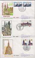 Germany 3 Used FDCs From 1989 - Architecture
