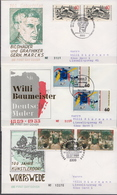Germany 3 Used FDCs From 1989 - Art