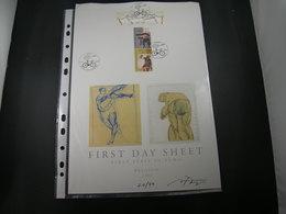 "BELG.2002 3052 3053 3054 & 3055 FDC Filatelic Card Met/avec Signature Nora Theys ! N°21/50 Ex : "" SPORT "" - FDC"