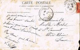 33689. Postal Romantica Vintage CONSTANTINE (departament Algerie) 1909 A St. Cannat - Francia