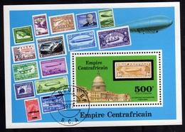REPUBBLICA CENTRAFRICANA EMPIRE CENTRAFRICAIN CENTRAL AFRICAN REPUBLIC 1977 WASHINGTON BLOCK SHEET BLOC USED OBLITERE' - Repubblica Centroafricana