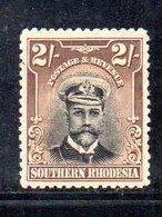 APR912 - RHODESIA SUD SOUTHERN 1924 ,  2 Sh Yvert N. 12  *  Linguella  (2380A) - Rhodesia Del Sud (...-1964)