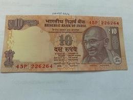 India 10 Rupees Gandhi Banknote 2015 Unc. #1 - India