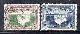 APR1015 - RHODESIA SUD SOUTHERN 1924 ,  Victoria Serie Yvert N. 29/30  Usata  (2380A) - Rhodesia Del Sud (...-1964)