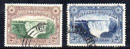 APR1506 - RHODESIA SUD SOUTHERN 1924 ,  Victoria Serie Yvert N. 29/30  Usata  (2380A) - Rhodesia Del Sud (...-1964)