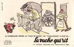 BUVARD LA VACHE QUI RITE LES METIERS LE CHARBONNIER SIGNE BAILLE - Produits Laitiers
