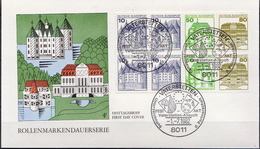 Germany FDC From 1982 - Castles