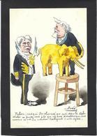 CPA Bobb Satirique Caricature Non Circulé Dessin Original Fait Main Fallières Pichon éléphant Siam - Satirische