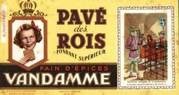 BUVARD PAIN D'EPICE VANDAMME PAVE DES ROIS LES ROIS DE FRANCE - Gingerbread