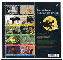 Blok 192** Kuifje Op Het Scherm Met  4165/74**  Bloc Tintin à L'écran MNH 10 Timbres Differentes - Bloc 192 - Blocks & Sheetlets 1962-....