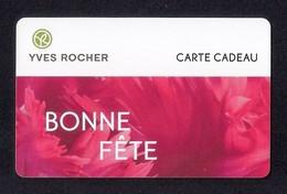 Carte Cadeau  YVES ROCHER.   Bonne Fête.   Gift Card. - Cartes Cadeaux