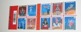 Boekje 105** / Carnet 105 MNH / Het Circus - Zelfkl. Autocoll. La Cirque 3929/38** - Booklets 1953-....