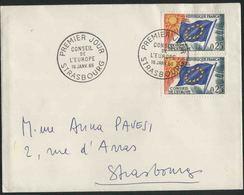 1965 Francia, Lettera Da Strasburgo Consiglio D'Europa - Servizio