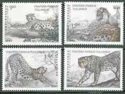 1997Uzbekistan145-48Cats5,00 € - Big Cats (cats Of Prey)