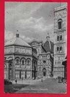 CARTOLINA VG ITALIA - FIRENZE - Battistero Duomo E Campanile - Ristorante Pizzeria DA PIERO - 10 X 15 - 1959 TASSATA - Firenze