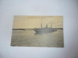 Antwerpen:anvers Départ Pour Le Congo Le Steamer Anversville Au Coude D'austruweel - Antwerpen