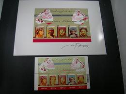 "BELG.2007 BL140** &  Filatelic Card Met/avec Signature Nora Theys ! : ""  Literatuur / Littérature  "" - FDC"