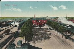 ALLEMAGNE - COTTBUS - Bahnhof - (point De Colle Dans Les Coins Au Dos ) - Cottbus