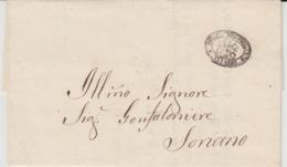 USED LETTER 15/12/1867 VITERBO SORIANO CACHETS - 1. ...-1850 Prefilatelia