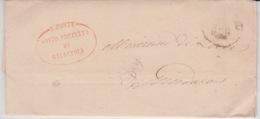 USED LETTER 1866 GALLIPOLI LECCE CACHETS - 1. ...-1850 Prephilately