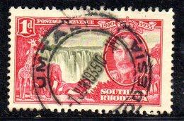 APR2016 - RHODESIA SUD SOUTHERN 1935 ,  Giubileo  Yvert N. 31  Usata  (2380A) - Rhodesia Del Sud (...-1964)
