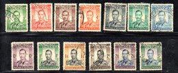 APR2117 - RHODESIA SUD SOUTHERN 1938 ,   Yvert N. 40/52  Usata  (2380A) - Rhodesia Del Sud (...-1964)