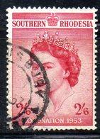 APR2121 - RHODESIA SUD SOUTHERN 1953 , Incoronazione Serie  Yvert N. 77  Usato  (2380A) - Rhodesia Del Sud (...-1964)
