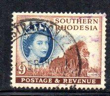 APR2122 - RHODESIA SUD SOUTHERN 1953 ,   Yvert N. 86  Usato  (2380A) - Rhodesia Del Sud (...-1964)