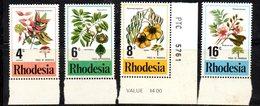 APR2127 - RHODESIA 1976 , Serie  Yvert N. 278/281  ***  MNH  (2380A)  Fiori - Rhodesia (1964-1980)