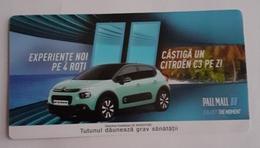 ROMANIA-CIGARETTES  CARD,NOT GOOD SHAPE,0.84 X 0.44 CM - Unclassified