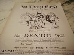 ANCIENNE PUBLICITE A TRAVERS LES AGES HENRY IV DENTIFRICE DENTOL 1925 - Perfume & Beauty