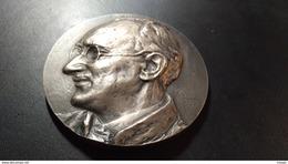Médaille Signée Alfred Courtens. Fonson. René Marcq Ses Disciples Ses Amis 1947 - Belgique