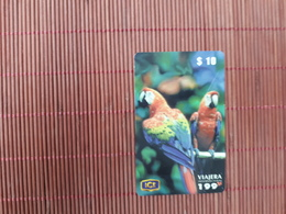Prepaidcard Birds Costa Rica  Some Traces Of Use Rare - Costa Rica