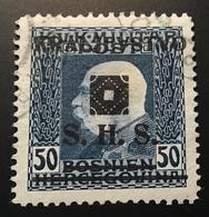 1919 S.H.S. / Bosnien Und Herzegowina 50 H Expert. P.Scheller: Mi. 41 VF Used (Jugoslawien Yougoslavie Yugoslavia ) - 1919-1929 Royaume Des Serbes, Croates & Slovènes