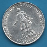 AUSTRIA ÖSTERREICH 25 SHILLING 1756-1956 MOZART KM# 2881 Argent 800‰ Silver - Autriche