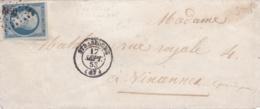 Présidence No 10 Sur Mignonette De 1853 PC 2950 Strasbourg (67) - Marcofilia (sobres)