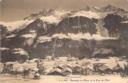 SUISSE Swiss ( VS Valais ) CHAMPERY En Hiver Et La Dent Du Midi - CPA - Switzerland Schweiz - VS Valais