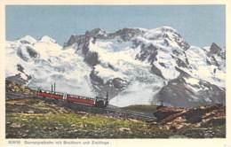 SUISSE Swiss ( VS Valais ) TRAIN : Gornergratbahn Mit Breithorn Und Zwillinge  - CPSM PF - Switzerland Schweiz - VS Valais