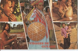 Visages De Guyane - Jeune Boni - Créole - Brésilienne - Wayana - Un Hmong Et Son Fils - 5 Photo's Sur Carte - Guyane