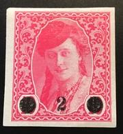 1919 Bosnien Und Herzegowina 2 H Rose Expert. P.Scheller: Mi. 28 Unused * (Jugoslawien Yougoslavie Yugoslavia ) - Unused Stamps