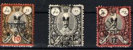 Irán Nº 44, 47, 48A. Año 1886/7 - Iran