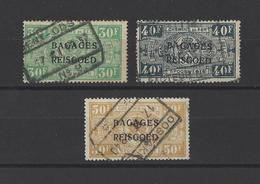 BELGIQUE  YT  Timbres Bagages  N° 21-22-23  Obl  1936 - Bagages