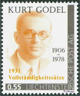 "GÖDEL, K. - Completeness Theorem - Liechtenstein 2014, MNH ** - Mathematics, Mathematician - ""dieMarke"" - Wissenschaften"
