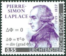 "LAPLACE, P.-S. - Laplace's Equation, Laplacian - Liechtenstein 2014, MNH ** - Mathematics,  Mathematician - ""die Marke"" - Wissenschaften"