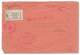 CROCE ROSSA ITALIANA - RACCOMANDATA DA BOLOGNA A LAGER 418 - GERMANIA. - 1900-44 Vittorio Emanuele III