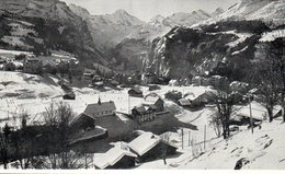 Carte De Voeux En Anglais Pour Noël Et Nouvel An - Photo De L église Anglaise à Wengen En Suisse - Natale