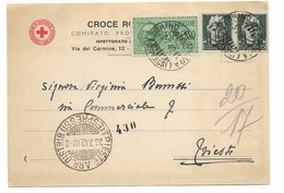 CROCE ROSSA ITALIANA - ESPRESSO DA TORINO A TRIESTE - 25.7.1942. - 1900-44 Vittorio Emanuele III