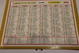 ALMANACH DU FACTEUR Calendrier Des Postes 1995, SOMME,  Original: PAS DE PHOTOS Sur Carton Dur, Mais 1 Photo Intérieure - Calendriers
